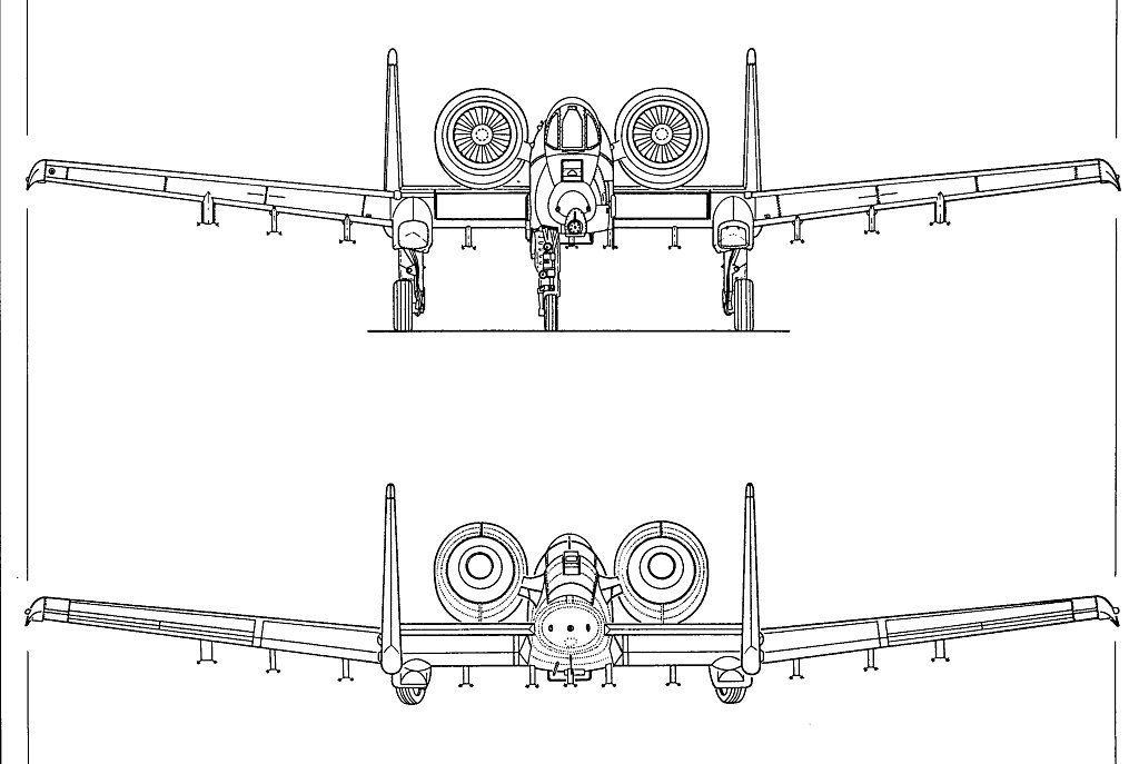 A 10 Thunderbolt Drawing drawings of A-10 Warthog