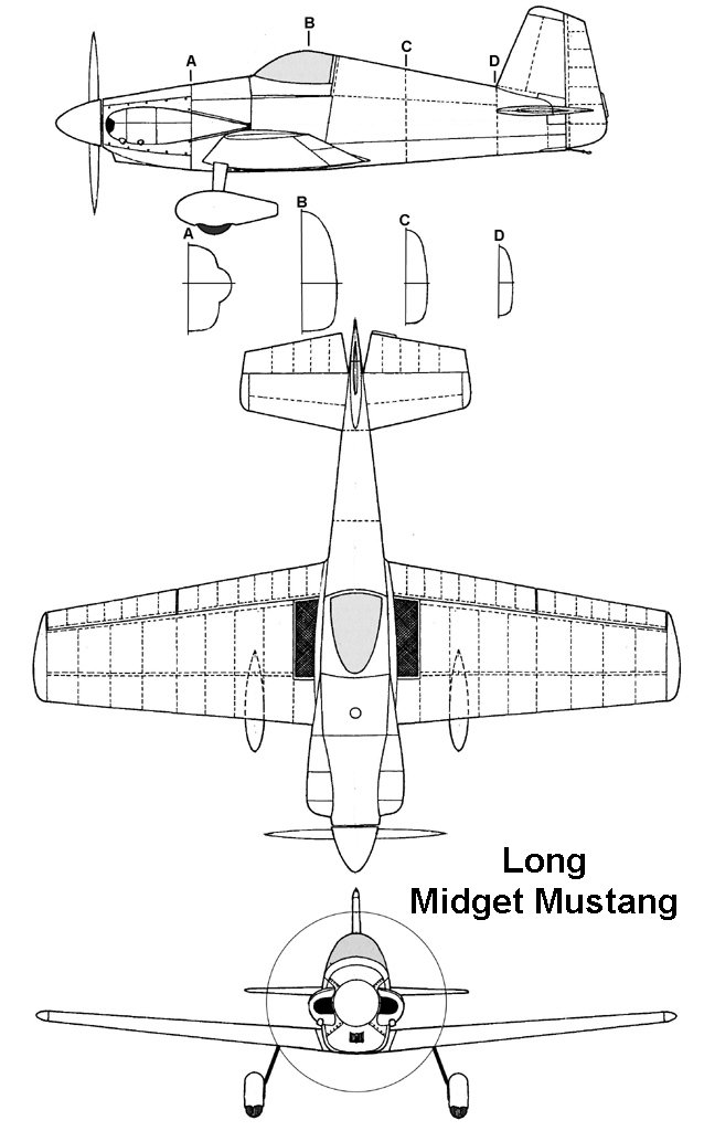 Will your Mustang midget airplane plans made you
