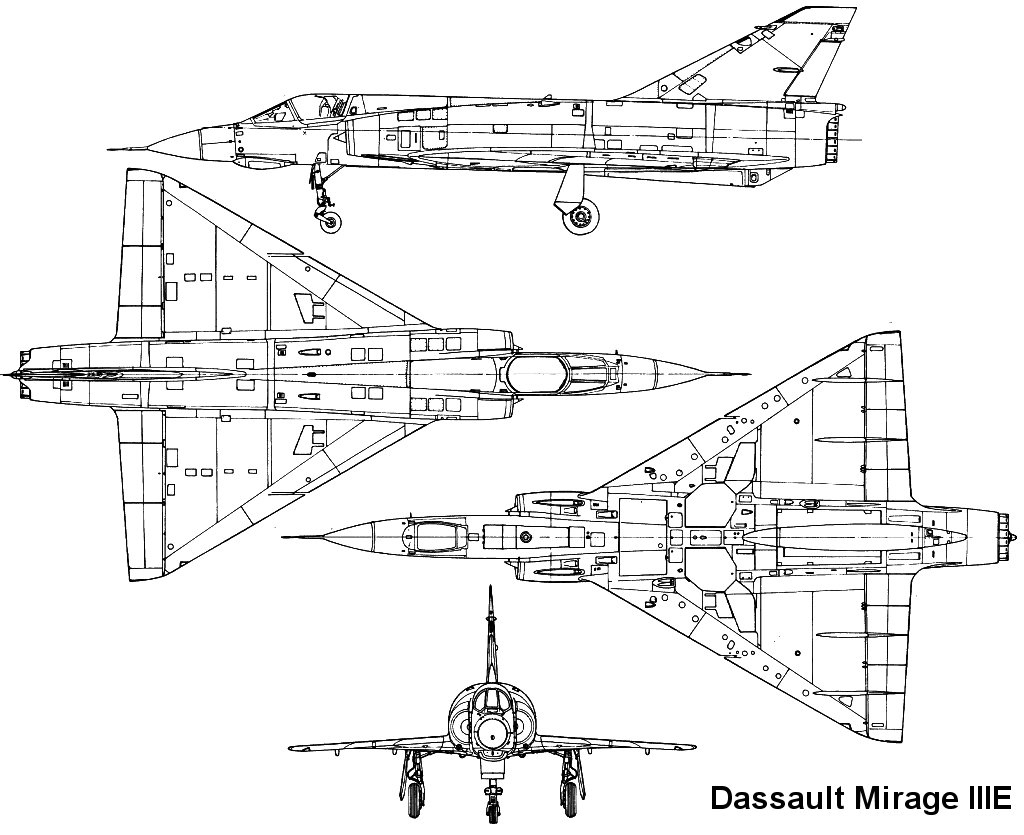 Mirage Iii Diagram Circuit Symbols Mitsubishi Engine Plan 3 Vues Rh Richard Ferriere Free Fr 1998 2001