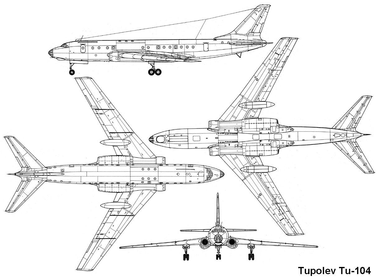 俄飞机三视图