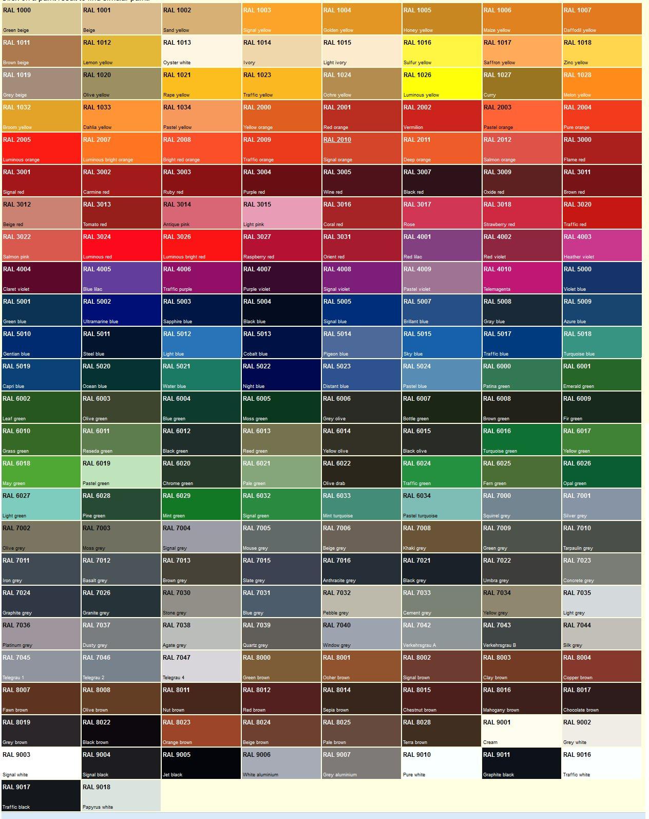 Camouflage - Palette de couleur html ...